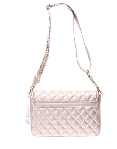shoulder pink Quilted Love Metallic Quilted Moschino Metallic bag bag Love Moschino shoulder dPfwBqngx