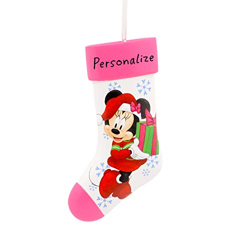 Hallmark Christmas Ornaments, Disney Minnie Mouse Stocking Personalized Ornament
