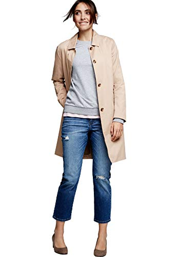 Ellos Women's Plus Size Belted A-Line Trench Coat - New Khaki, 22