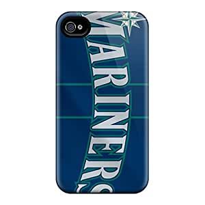 DannyLCHEUNG Iphone 4/4s Bumper Hard Phone Cases Support Personal Customs HD Seattle Mariners Series [vfc5394RDzW]