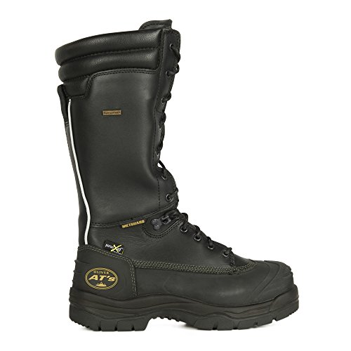 Oliver 65 Series 14'' Leather Puncture-Resistant Waterproof Men's Steel Toe Mining Boots with Metatarsal Guard, Black (65691) by Oliver (Image #4)