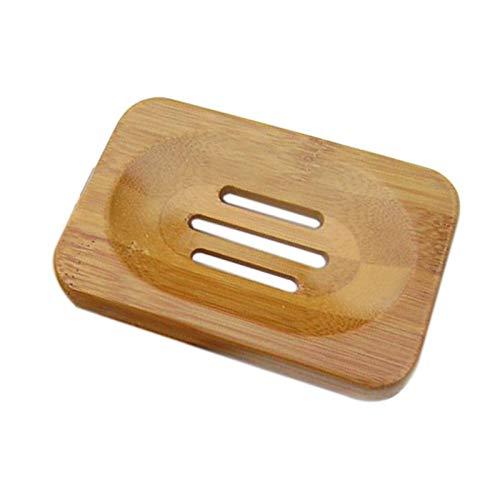 Eco-friendly de bamb/ú Jab/ón plato de madera de viajes recipiente de jab/ón caja de jab/ón plato Caso Cas jabonera Caja de almacenamiento accesorios de ba/ño