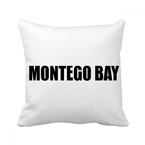 - DIYthinker Montego Bay Jamaica City Name Square Throw Pillow Insert Cushion Cover Home Sofa Decor Gift