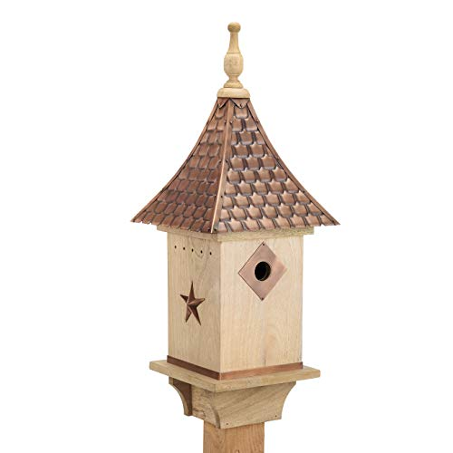Good Directions BH201W Copper Shingled Roof Bird House (Small House Shingled)