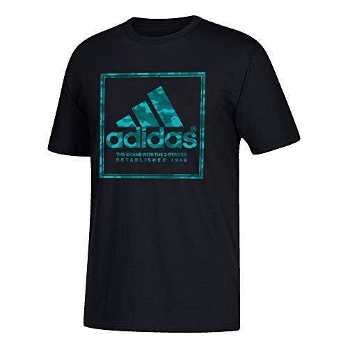 - adidas Men's Adi Stamp Camo Black T-Shirt (M)