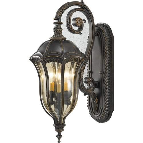 - Feiss Baton Rouge Walnut 3-Light Outdoor Wall-Mounted Lantern OL6002WAL