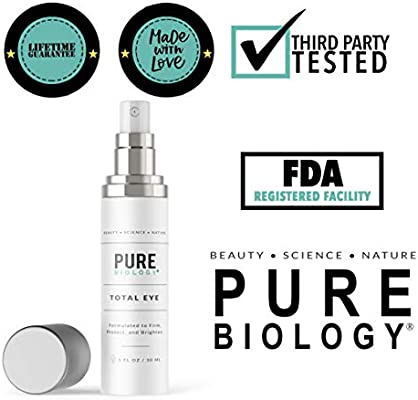 Premium Total Eye Cream with Vitamin C + E, Hyaluronic Acid & Anti Aging Complexes to Reduce Dark Circles, Puffiness, Under Eye Bags, Wrinkles & Fine Lines for Men & Women