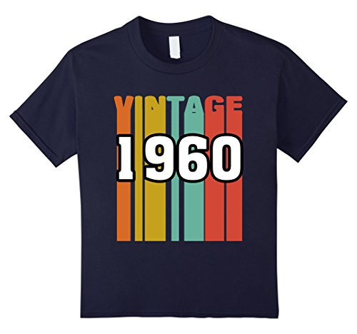 Kids Retro Vintage 1960 T-Shirt 57 yrs old Bday 57th Birthday Tee 8 Navy (Old People+halloween Costume Ideas)
