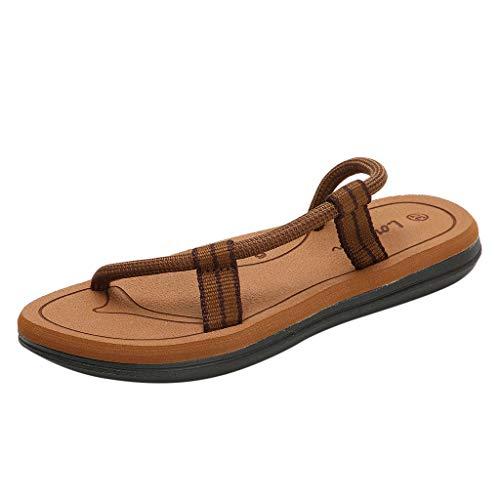 Sandali 36 Spiaggia Shopping slip Casuale Vacanza non Donna Dei Per Selvaggio Khaki Estive Basse Bazhahei Scarpe Giro Uomo 41 EfwaqgSgd