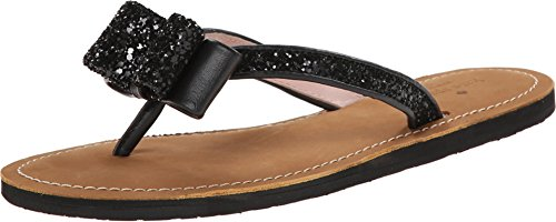 buy for sale limited edition online kate spade new york Women's Icarda Thong Sandal Black Glitter/black Nappa countdown package cheap price buy cheap 100% guaranteed buy online with paypal 88M5D