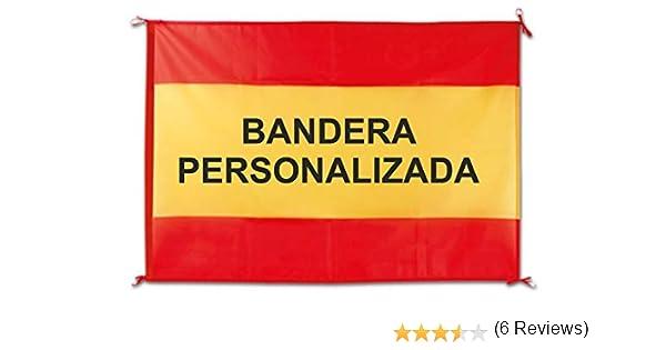 QCM Bandera España Balcon 100x70 cm Personalizada: Amazon.es: Hogar
