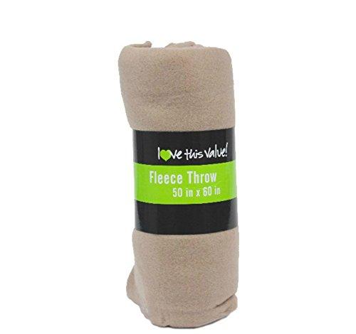 DDI Wholesale Fleece Blankets - Tan 50