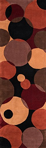 Momeni Rugs NEWWANW-37BLK26C0 New Wave Collection, 100% Wool Hand Carved & Tufted Contemporary Area Rug, 2'6