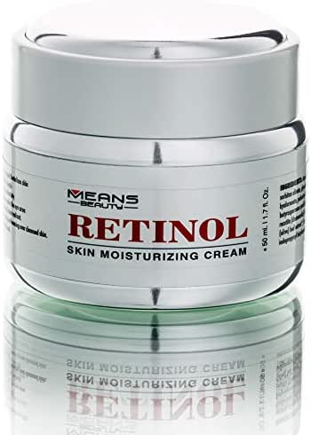 Retinol Cream For Face, Neck, Décolleté And Eye Area For Men And Woman W/Hyaluronic Acid, Vitamin E, Green Tea, Fights The Appearance Of Wrinkles, First Results in 5 Weeks,  Made in Canada, Best Formula to Reduce Wrinkles, Puffy Eyes And Dark Circle