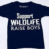 Support Wildlife Raise Boys, Funny Shirt for Boys, Youth Wildlife Tshirt, Black, Size 5/6