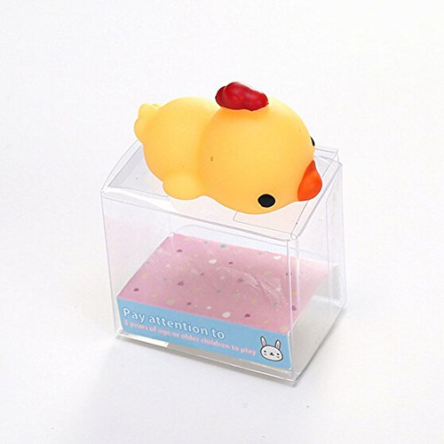 LXY Cute Mochi Squeeze Toy Animal Kids Hand Toy Chicken Relieve Stress Toy for Children and Adult Anti-Anxiety Autism Kill Time Toy (Halloween Chicken Fingers)