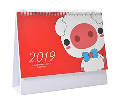 August 2018 to December 2019 Desk Calendar Desktop Calendar
