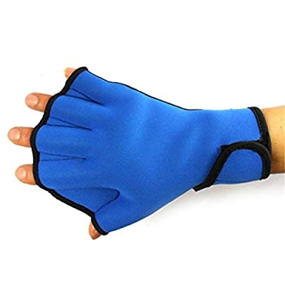 Haoyushangmao 1 Pair Water Swim Gloves Aerobics Aqua Jogger Swimming Hand Webbed Swim Surfing Diving Webbed Neoprene Paddle Gloves (Color : Blue Big): Home & Kitchen