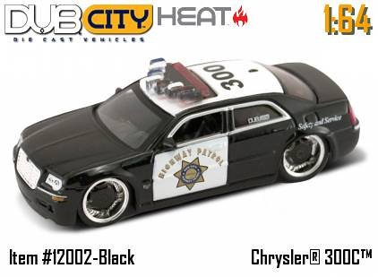 Jada Dub City Heat Chrysler 300C Police Car 1:64 Scale Die Cast Car