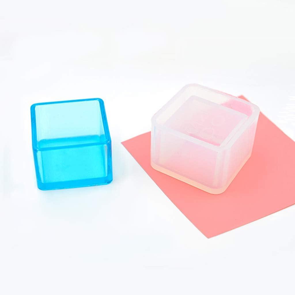 b/éton Ruda Cube Moules en Silicone pour Pot de Fleurs de Jardin Ciment Vase et Savon