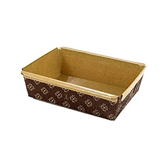 small rectangular paper loaf pan molds small size 5 1 2 x 4 x 1 3 4 pack of. Black Bedroom Furniture Sets. Home Design Ideas