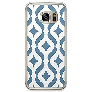 Loud Universe Blue Arabic Pattern Samsung S7 Edge Case Classical Arabic Architecture Tile Samsung S7 Edge Cover with Transparent Edges