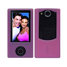 iShoppingdeals - Pink Soft Silicone Skin Case Cover for Sony Bloggie Duo Camera MHS-FS2 4GB 2 Hours