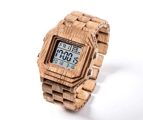 WOODLANS MECHATRON Wood, Reloj de Pulsera, Reloj Hecho a Mano, Reloj de Madera Hecho a Mano, Idea de Regalo, InovaDesign: Amazon.es: Relojes