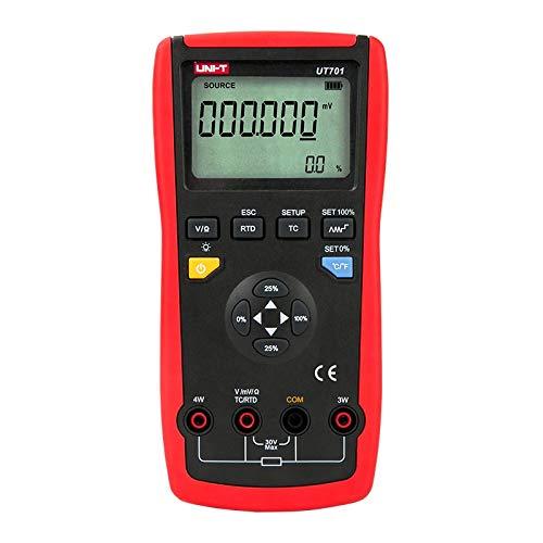 UNI-T Handheld Single Function Temperature Calibrator UT701 Thermocouple Calibrator Type J/K/T/E/R/S/B/N/Wre RTDs C mV - Calibrator Temperature