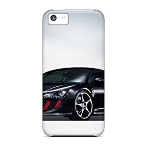 DanLuneau Cases Covers For Iphone 5c - Retailer Packaging Black Abt Audi R8 Front Angle Protective Cases