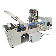 KOHSTAR Heavy Duty Labeling Machine Semi-automatic Round Bottle Labeling Machine with Code Printer,adhensive Label Sticker 15-120mm