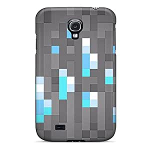 Shockproof Hard Cell-phone Cases For Samsung Galaxy S4 With Customized HD Mine Craft Diamonds Skin AshtonWells