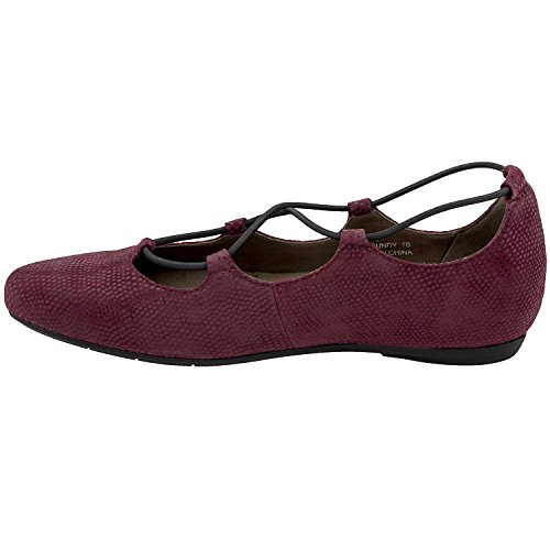 Earthies Essen Burgundy Print Suede