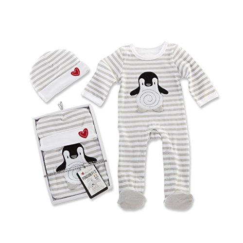 Baby Aspen Penguin PJ Gift Set, Black/White/Multi, 0-6 Months ()