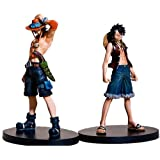 One Piece Anime Luffy & Ace Grand Line Figur Set