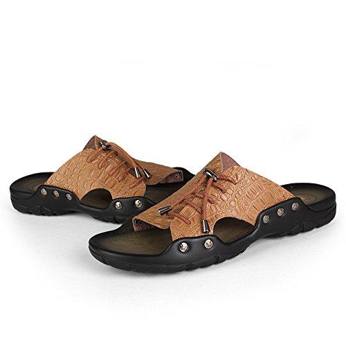 Británicas De Zapatillas Playa Light Youth Hombre Para Brown Palabra Casual Drag Sandalias Y Cocodrilo Trend weifeng vxw5qRUFn7