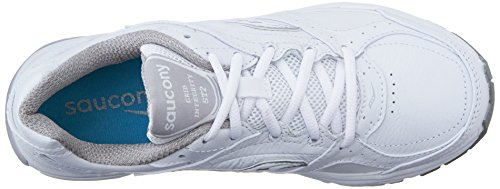 Saucony Women's ProGrid Integrity ST2 Walking Shoe,White/Silver,5 B(M) US