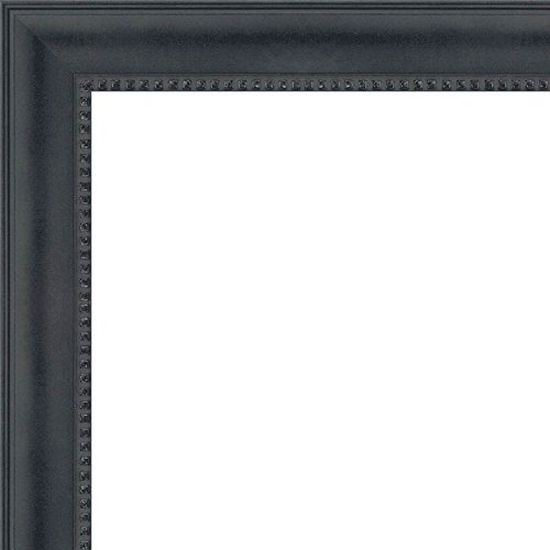 30x36 - 30 x 36 Black Castle Solid Wood Frame with UV Framer's Acrylic & Foam Board Backing - Great For a Photo, Poster, Painting, Document, or Mirror by The Frame Shack