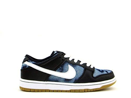 Nike Herren Dunk Low Premium Ankle-High Leder Fashion Sneaker Schwarz / Midnight Navy / Metallic Gold / Weiß