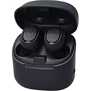 Audio-Technica ATH-CK3TWBK Wireless in-Ear Headphones, Black, Bluetooth 5.0, Water-Resistant, 6 hr Battery