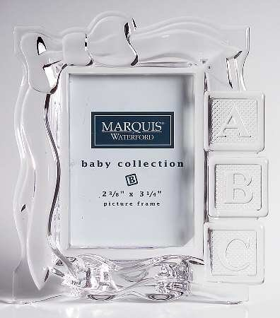 Amazon.com : Waterford Crystal Marquis Collectible Baby Blocks ...