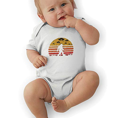 Nutmix Babys UFO Bigfoot Neutral Body Suit White 0-3M ()