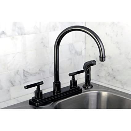 Black Nickel Two-handle Kitchen Faucet Solid Brass - - Amazon.com