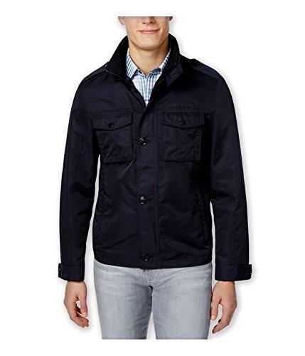 Tasso Elba Mens Four Pocket Button/Zip Front Jacket Navy L -