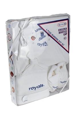 Kansas City Royals MLB Baby Boys Newborn Three Piece Boxed Gift Set