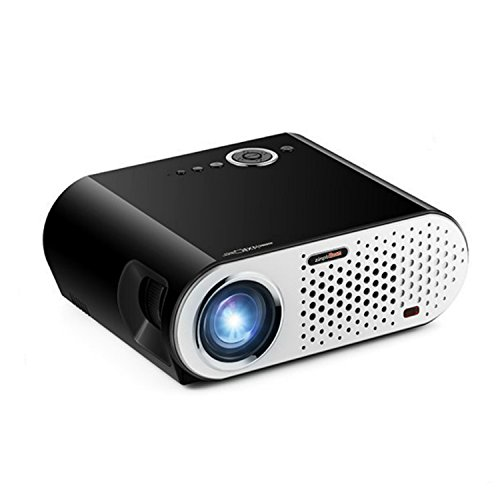 Price comparison product image Portable 3000 Lumens LED Video Projector Multimedia Player for Office Meeting Home Theater Movie Support Smartphone / Laptop / TV Game 1080p HD Black