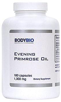 BodyBio – Evening Primrose Oil, 1300mg, 180 Softgels