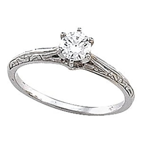 [Yellow Gold Cathedral Engagement Polished Ring Mounting & Band] (Cathedral Ring Mounting)