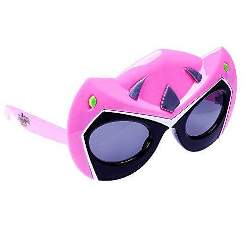 Sunstaches Mighty Morphin' Power Rangers Dino Charge Pink Power Ranger Sunglasses, Party Favors, (Power Rangers Glasses)