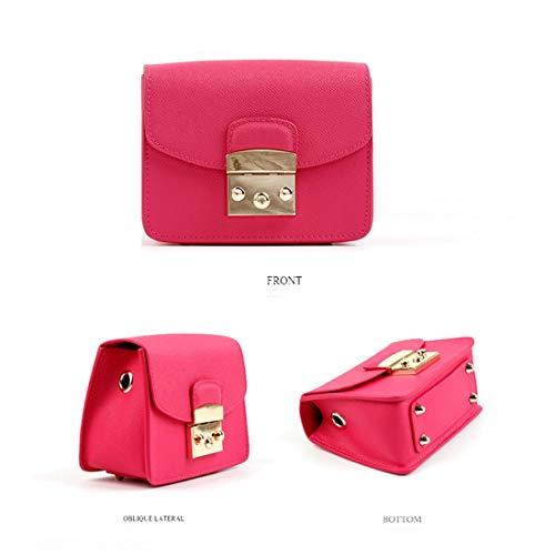 à couleur Yy4 cuir sac Rose Kervinfendriyun Petit Rouge Rouge bandoulière en tAUwHwq